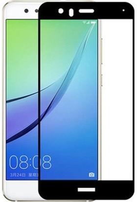 Dafoni Huawei P10 Curve Slim Triple Shield Siyah Ekran Koruyucu