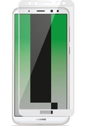 Dafoni Huawei P10 Lite Curve Nano Glass Premium Beyaz Cam Ekran Koruyucu