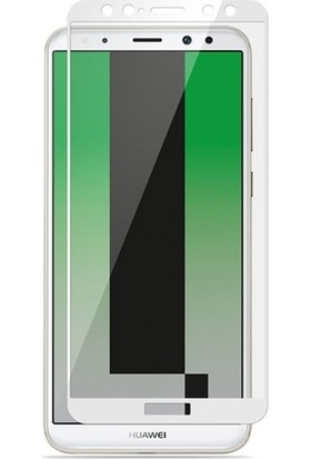 Dafoni Huawei P10 Lite Curve Slim Triple Shield Beyaz Ekran Koruyucu
