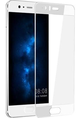Dafoni Huawei P10 Plus Curve Nano Glass Premium Beyaz Cam Ekran Koruyucu