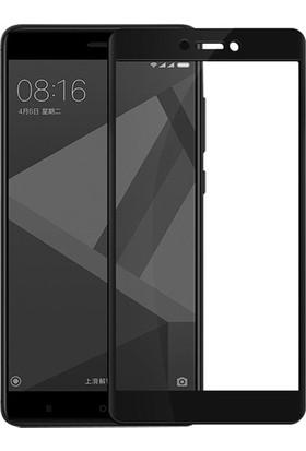 Dafoni Xiaomi Redmi 4X Curve Slim Triple Shield Siyah Ekran Koruyucu