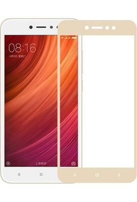 Dafoni Xiaomi Redmi Note 5A / Note 5A Prime Curve Tempered Glass Premium Gold Full Cam Ekran Koruyucu
