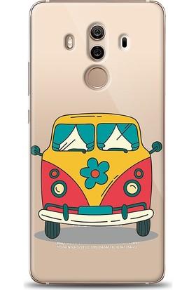 Eiroo Huawei Mate 10 Pro Retro Minibus Desenli Kılıf
