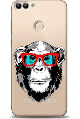Eiroo Huawei P Smart Hipster Monkey Desenli Kılıf