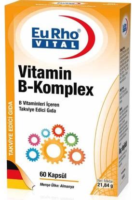 Eurho Vital Vitamin B-Komplex 60 Kapsül