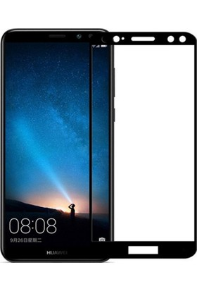 Dafoni Huawei Mate 10 Lite Curve Tempered Glass Premium Full Siyah Cam Ekran Koruyucu