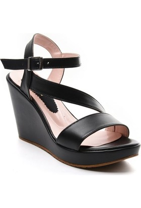 Sapin 26056 Siyah Kadın Sandalet