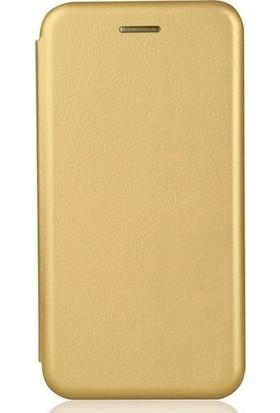 CoverZone Xiaomi Mi Mix 2 Mıknatıslı Kapaklı Kılıf Standlı - Altın