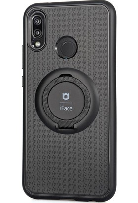 CoverZone Huawei P20 Lite Mıktanıslı Yüzük Tutuculu Standlı i-Face Kılıf - Siyah