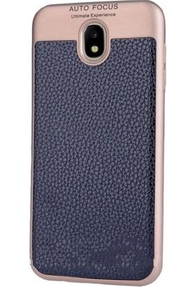 CoverZone Samsung Galaxy J3 Pro 2017 Kılıf J330 Deri Görünümlü Ultimate Buttom Kapak