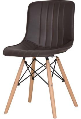 Fnz Ahşap Ayaklı Suni Deri Mutfak Sandalyesi