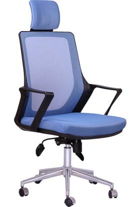 Büronet Alfa Mavi Fileli Müdür Ve Yönetici Koltuğu - Büronet Ofis Mobilya