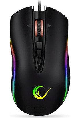 Everest Rampage Shine SMX-R15 10000 DPI RGB Gaming Oyuncu Mouse Siyah - Gri