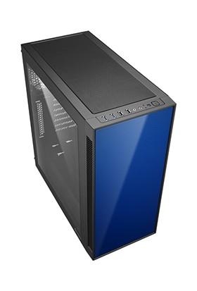 Sharkoon AM5 Mavi Pencereli 2x Led Fanlı 2xUSB 3.0 2xUSB2.0 ATX Oyuncu Kasası
