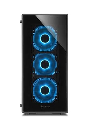 Sharkoon TG5 Blue Temperli Cam Pencereli 4x Mavi Led Fanlı 2xUSB 3.0 ATX Oyuncu Kasası