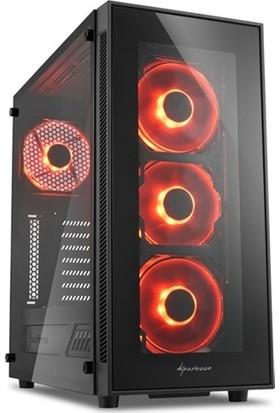 Sharkoon TG5 ATX RGB USB3.0 4XLed Fan Kasa