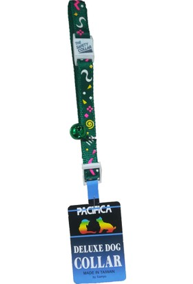 Goodnesscat Safety Collar Picasso Desenli Kedi Boyun Tasması 10 Mm x 30 Cm Yeşil