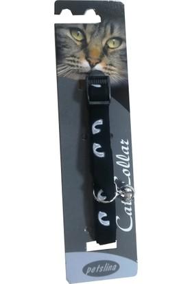 Goodnesscat Velvet Black Nubuk Fosfoslu Kedi Boyun Tasması 10 Mm x 30 Cm Gri