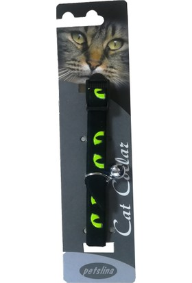Goodnesscat Velvet Black Nubuk Fosfoslu Kedi Boyun Tasması 10 Mm x 30 Cm Yeşil