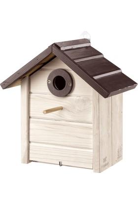 Ferplast Nest N6 Ahşap Yabani Kuş Yuvası 26 X 15,8 X H 27,4 Cm Beyaz