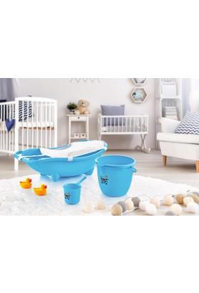 Dünya Plastik Küvet Seti Bebek Banyo Küvet Takımı 3 lü Set ( File Hediyeli )