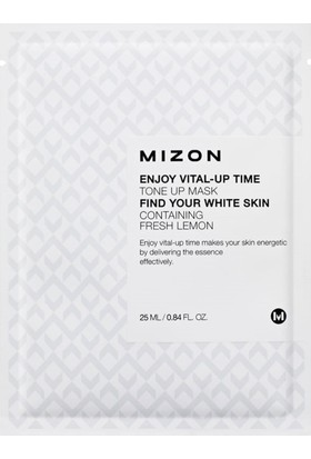 Mizon Enjoy Vital-Up Time Tone Up Mask - Limon Ekstreli Cilt Tonu Maskesi