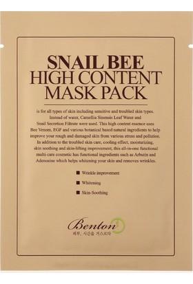 Snail Bee High Content Mask - Salyangoz Özlü Maske