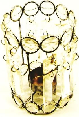 LuckyArt Dekoratif Mumluk Hediyelik Kristal Bardak Süs Eşyası