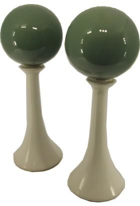 Casa Viola Yeşil Beyaz Büyük Toplu Dekoratif Ürün