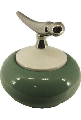 Casa Viola Yeşil Beyaz Gümüş Kuş Kapaklı Hediyelik Şekerlik Süs