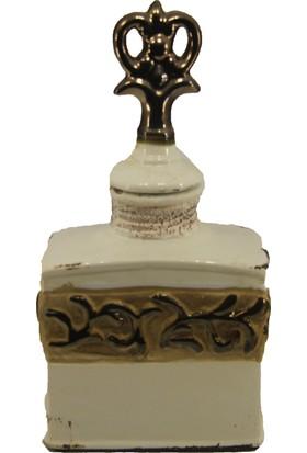 LuckyArt Krem Eskitme Bronz Şeritli Dekor Ürün
