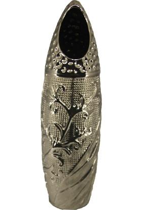 Cossa Gümüş Varaklı Vazo Hediyelik Eşya