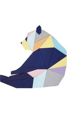 Woodyelfony Geometrik Ahşap Panda Tablo
