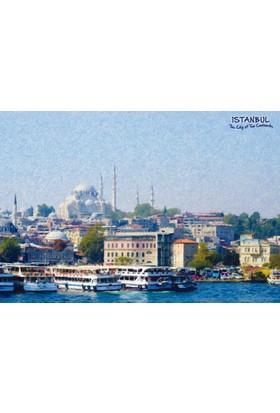 DirektAlYapışkanlı Pano-İstanbul, Manzara 33X48 cm