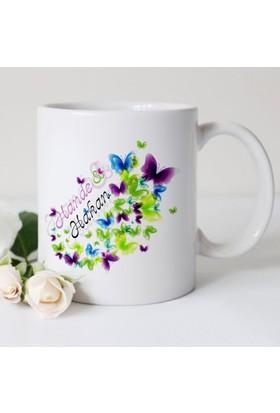 Leydi Collection Kişiye Özel Sevgililer Günü Tasarımlı Beyaz Kupa Bardak - 10