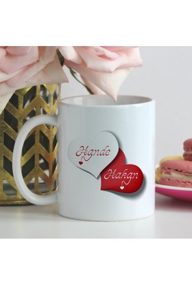 Leydi Collection Kişiye Özel Sevgililer Günü Tasarımlı Beyaz Kupa Bardak - 26