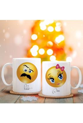 Leydi Collection Kişiye Özel İkili Emoji Sevgili Kupası - 10