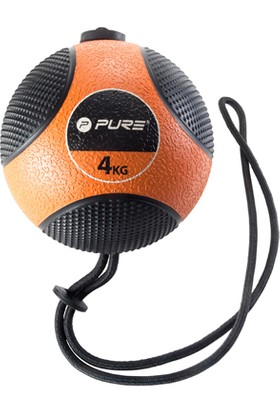 Pure P2I110080 Medicine Ball With Rope İpli Sağlık Topu 4 Kg