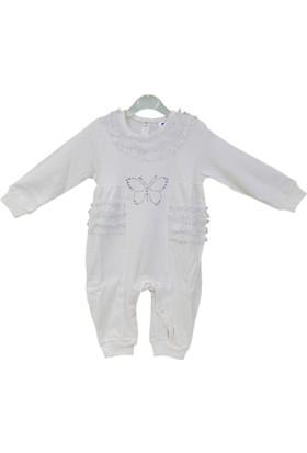 Mirada Baby 50104 Taşlı Kelebek Bebek Tulumu
