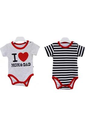 Babycool 44183 I Love Mom & Dad 2'li Bebek Body