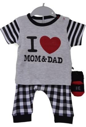 Babycool 44084 I Love Mom & Dad 2'li Bebek Takımı