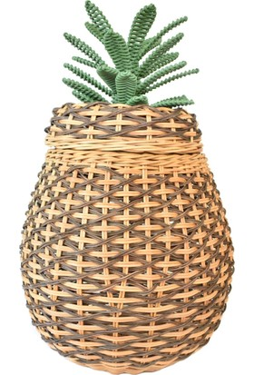 Virago Home Décor Ananas Şeklinde Hasır Sepet