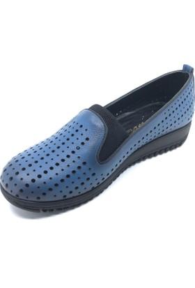 Pianoluce Deri Mavi Kadın Ayakkabı Pla45-512