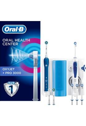 Oral-B Ağız Bakım Merkezi Oxyjet Ağız Duşu + Pro3000 Sarj Edilebilir Diş Fırçası