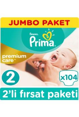 Prima Bebek Bezi Premium Care 2 Beden 104x2 208 ADET 3-6 KG