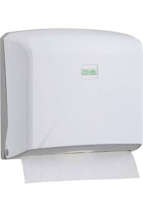 Vi̇alli̇ Z Katlı Kağıt Havlu Dispenseri Max 22 Cm 200 Ad Beyaz Vialli