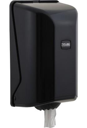 Vi̇alli̇ İçten Çekmeli Kağıt Havlu Dispenseri Aparatı Siyah Vialli