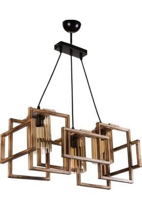 Hepsiburada Home Wood Selection Lisa 3'Lü Ahşap Avize