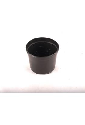 Serinova S8 cm Yuvarlak 10 adet Siyah Saksı