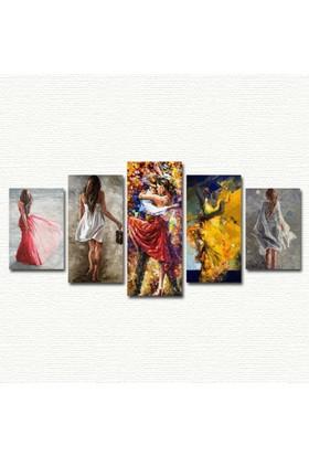 AntiQa Trendy Collection 5 Parçalı MDF Tablo ANQ118
